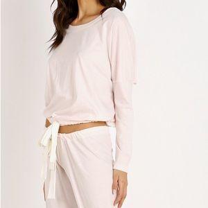 eberjey // pale pink drawstring waist slouchy top